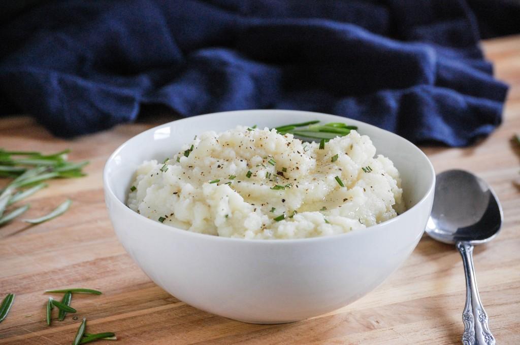 Garlic and Rosemary Mashed Cauliflower