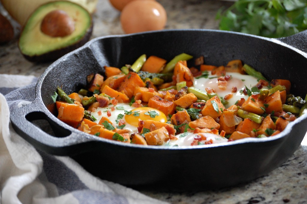 Sweet Potato Hash with Eggs