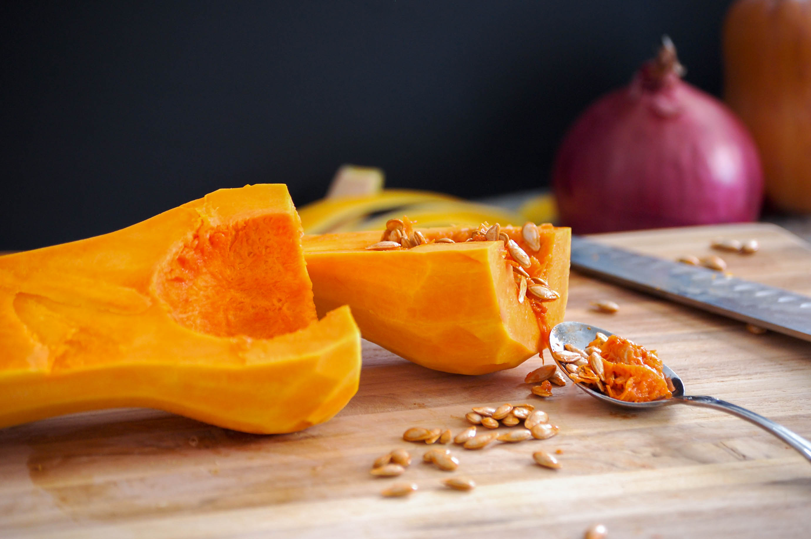 Roasted Squash and Onions-11