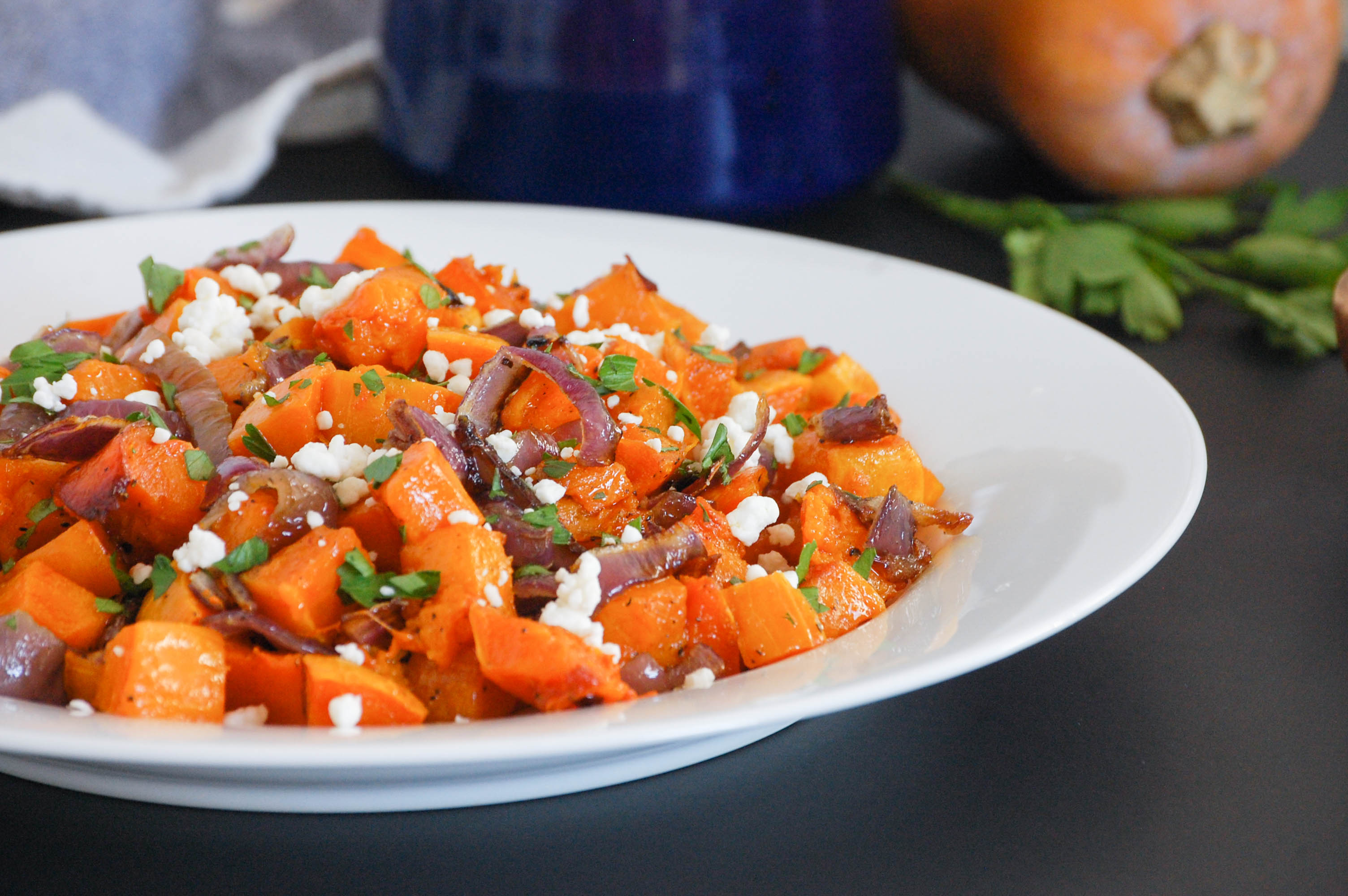 Roasted Squash and Onions-88