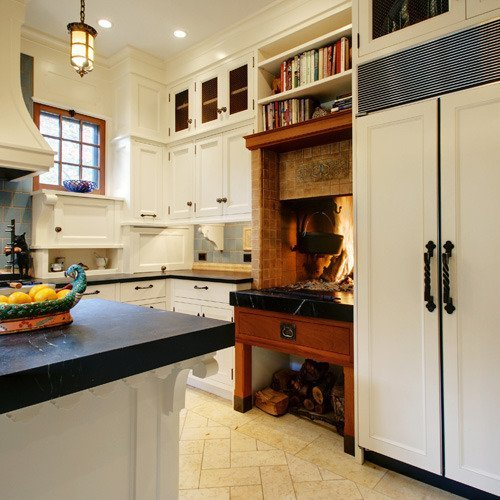 Cozy Kitchen: 8 Cozy Kitchen Fireplaces