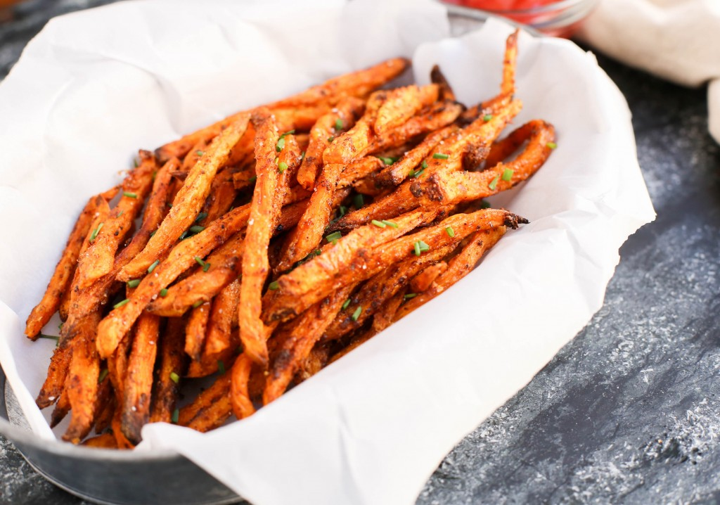 Crispy Sweet Potato Fries by The District Table