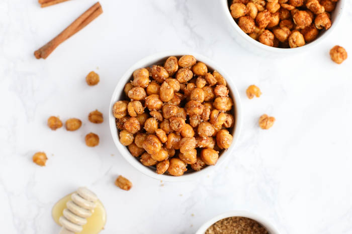 Roasted Chickpeas, Sweet or Spicy