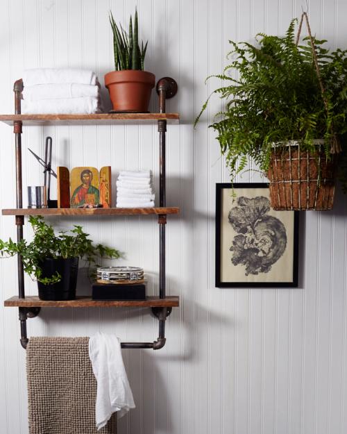Luxury To Industrial Pipe Shelf Bathroom Shelves Kitchen Shelves Shelving