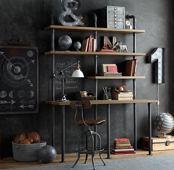 Home Design Ideas Blackboard:  Design Ideas : Pipe Shelves