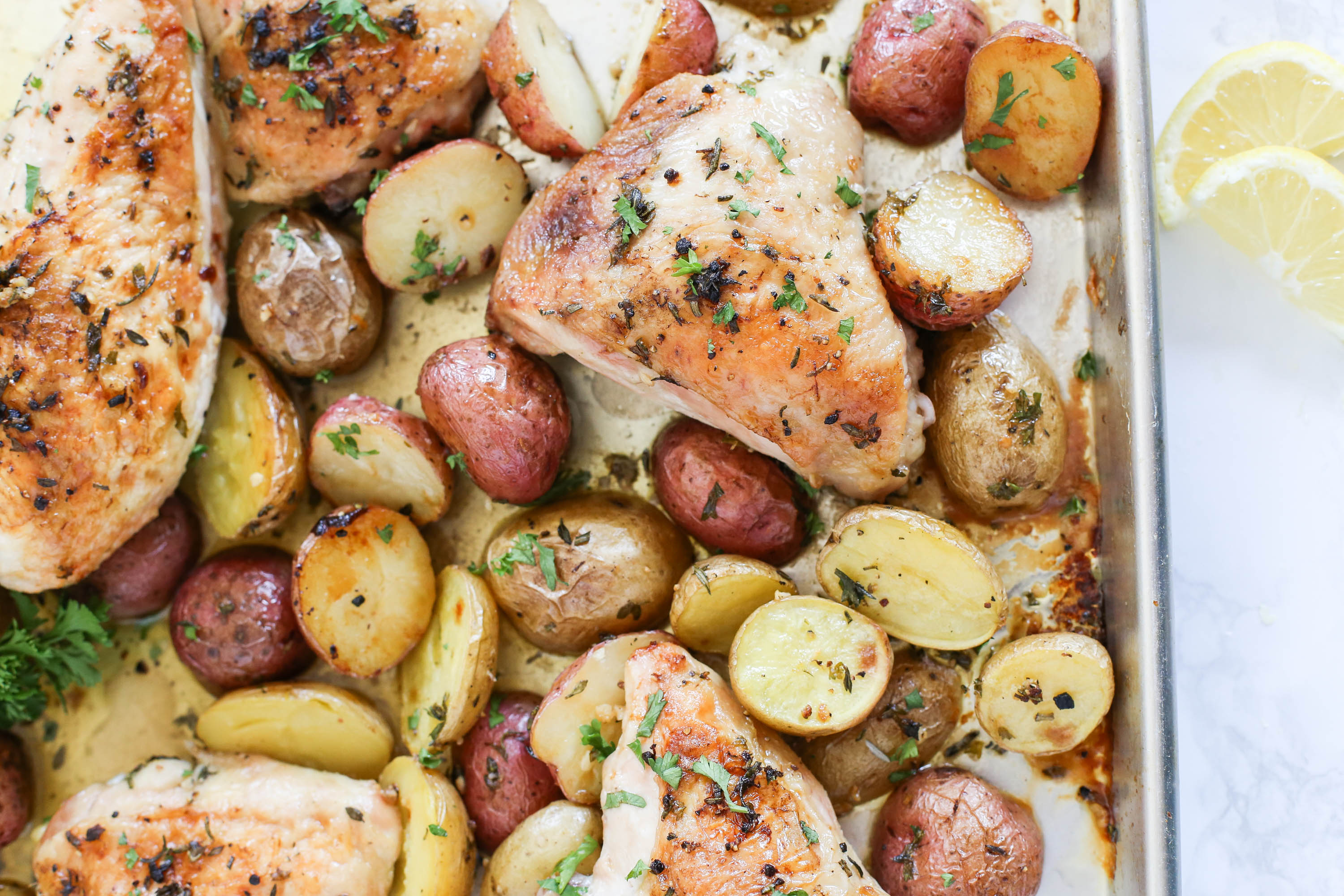 Herb-Roasted Chicken with Potatoes - The District Table