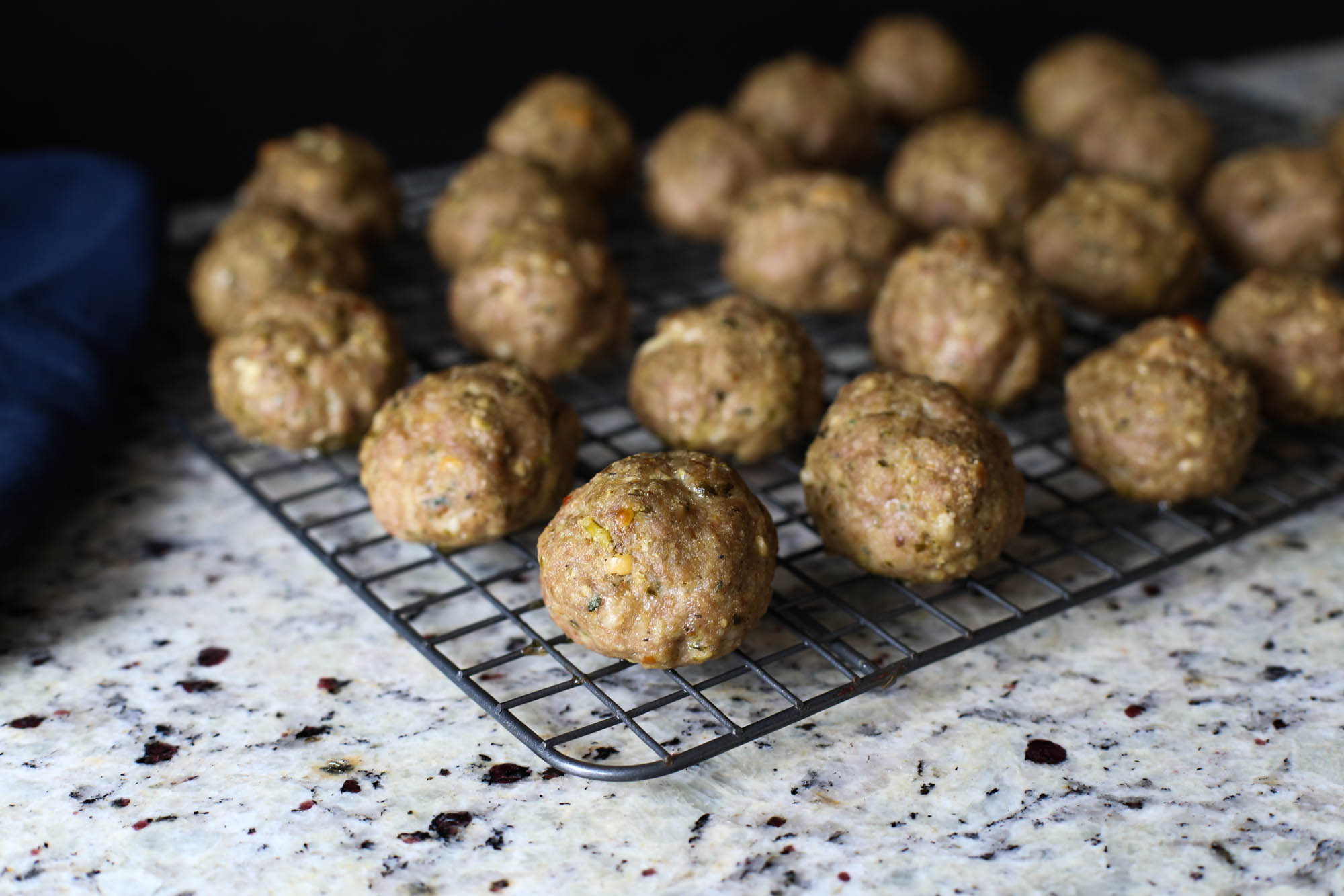 Baked Pesto Meatballs