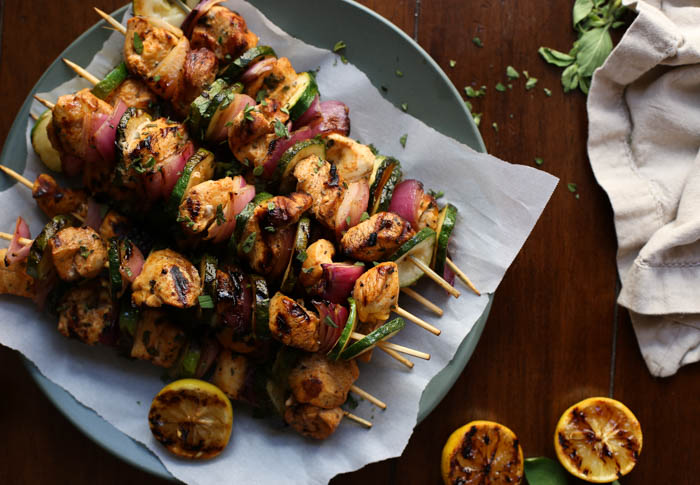 Zesty Grilled Chicken Kabobs