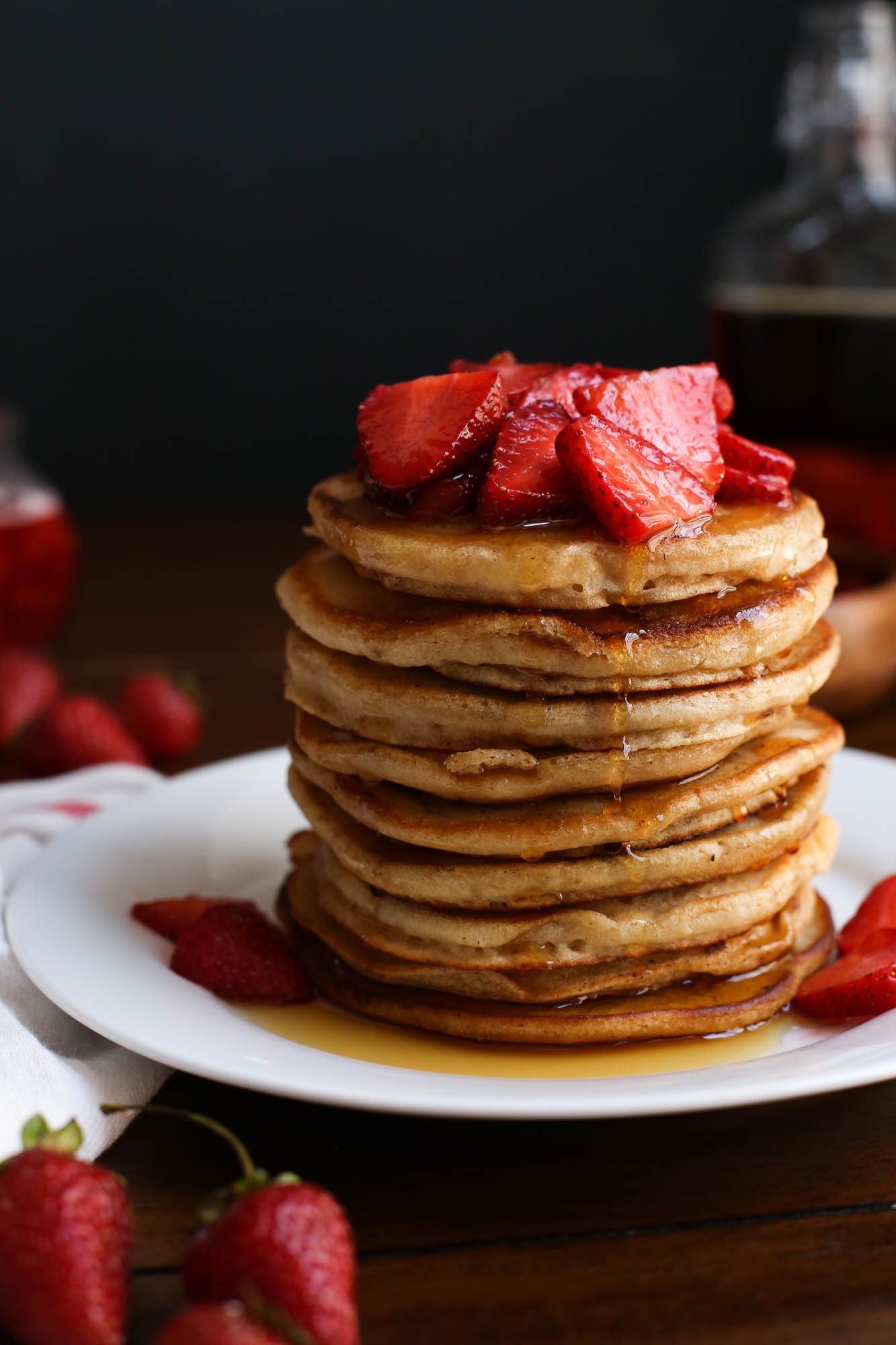Easy Pancakes with Strawberry Syrup from The District Table
