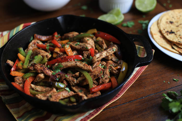 Sizzling Chicken and Veggie Fajitas