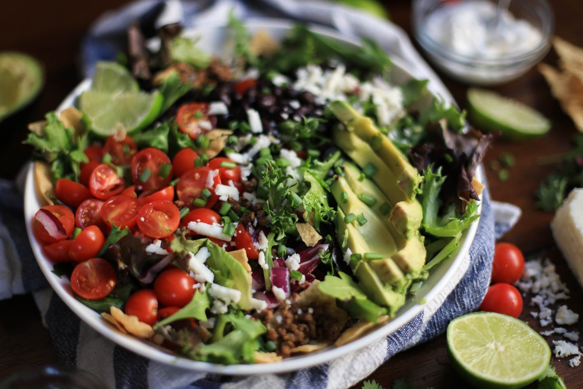 Easy Weeknight Taco Salad by The District Table