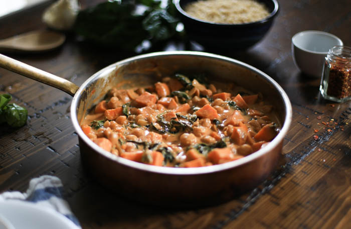 One Pot Chickpea and Sweet Potato Stew