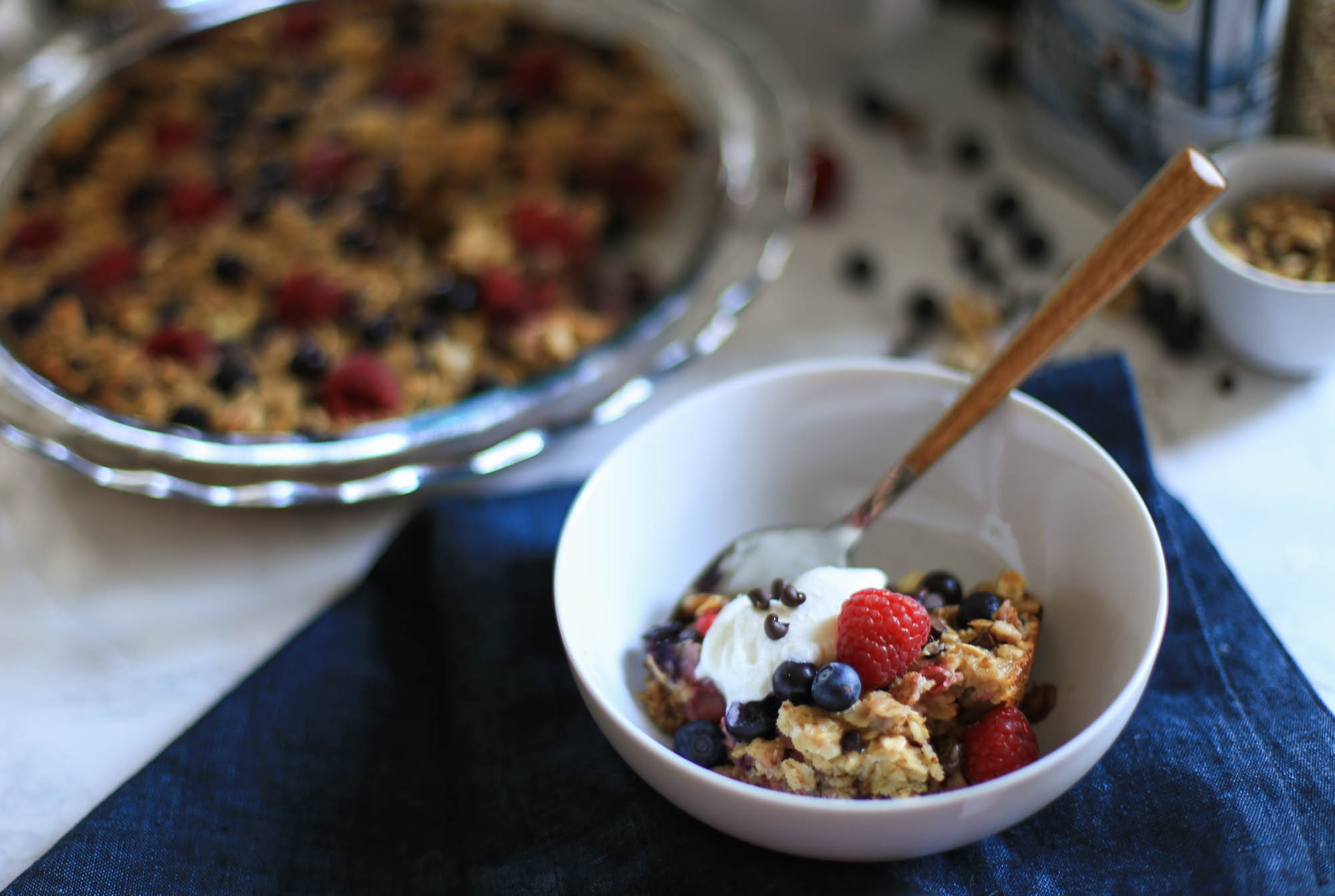 Easy Baked Oatmeal with Berries by The District Table