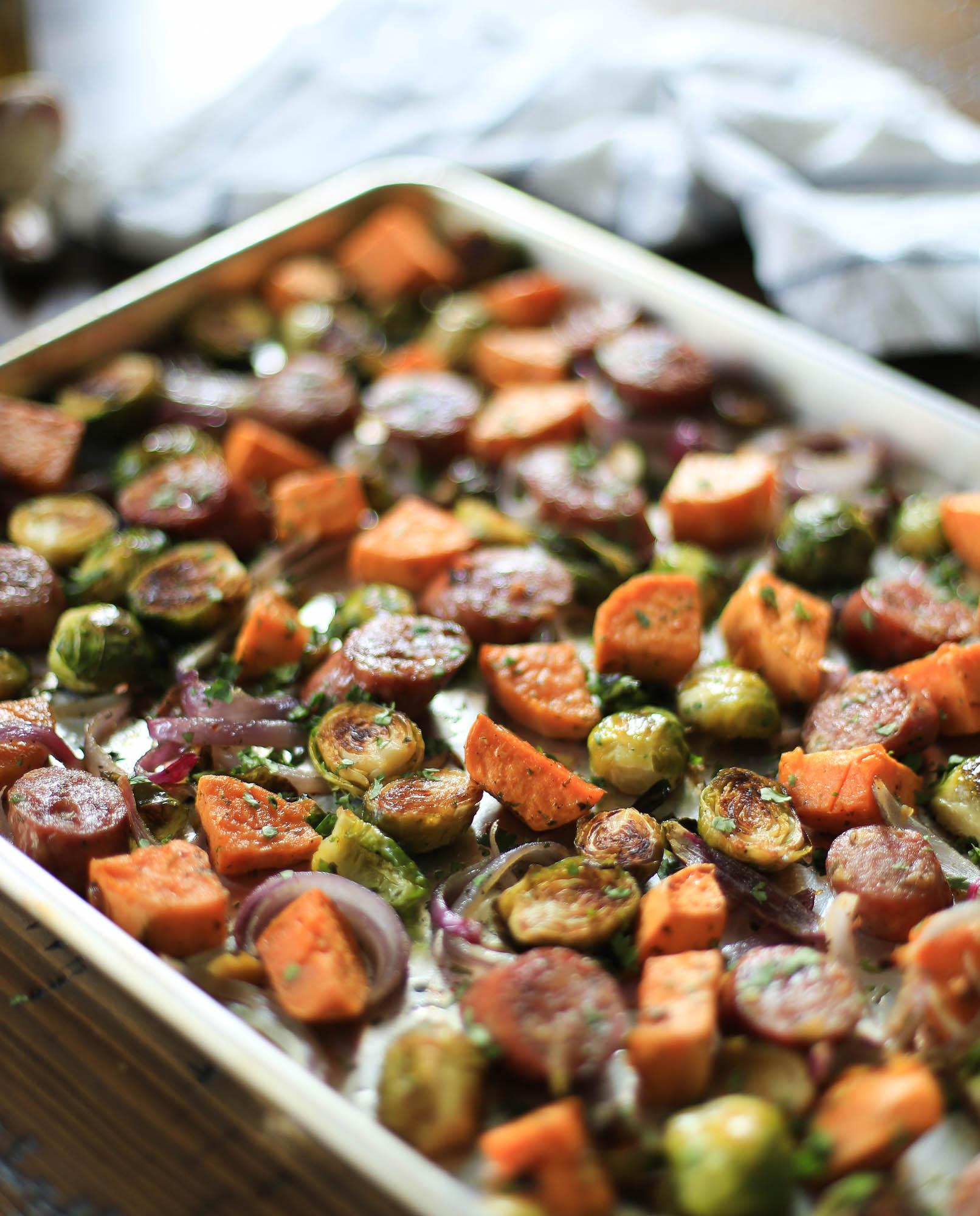 Pan-Roasted Sausage and Veggies