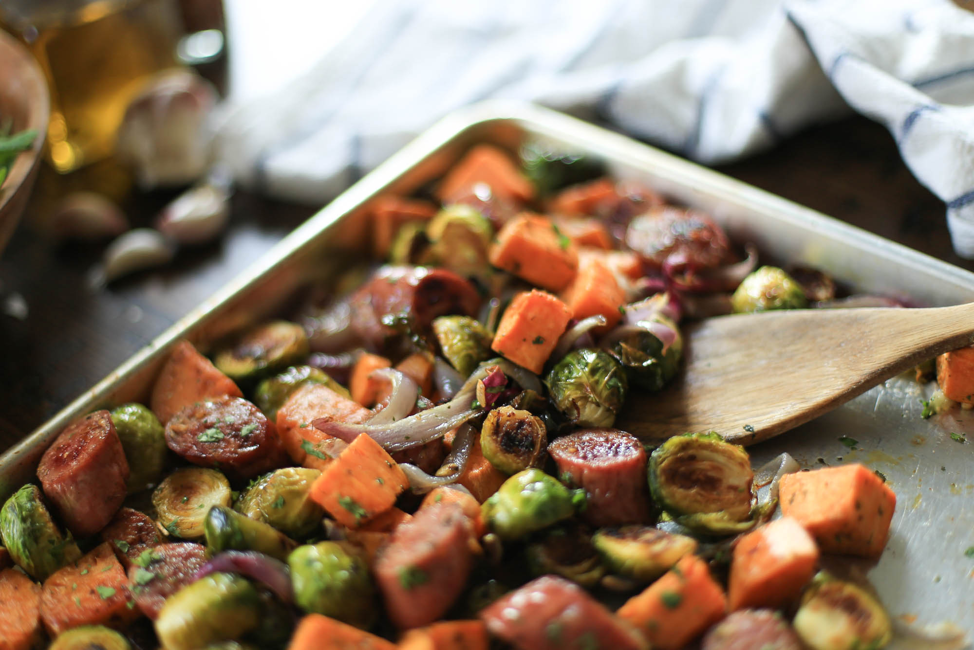 Pan-Roasted Sausage and Veggies