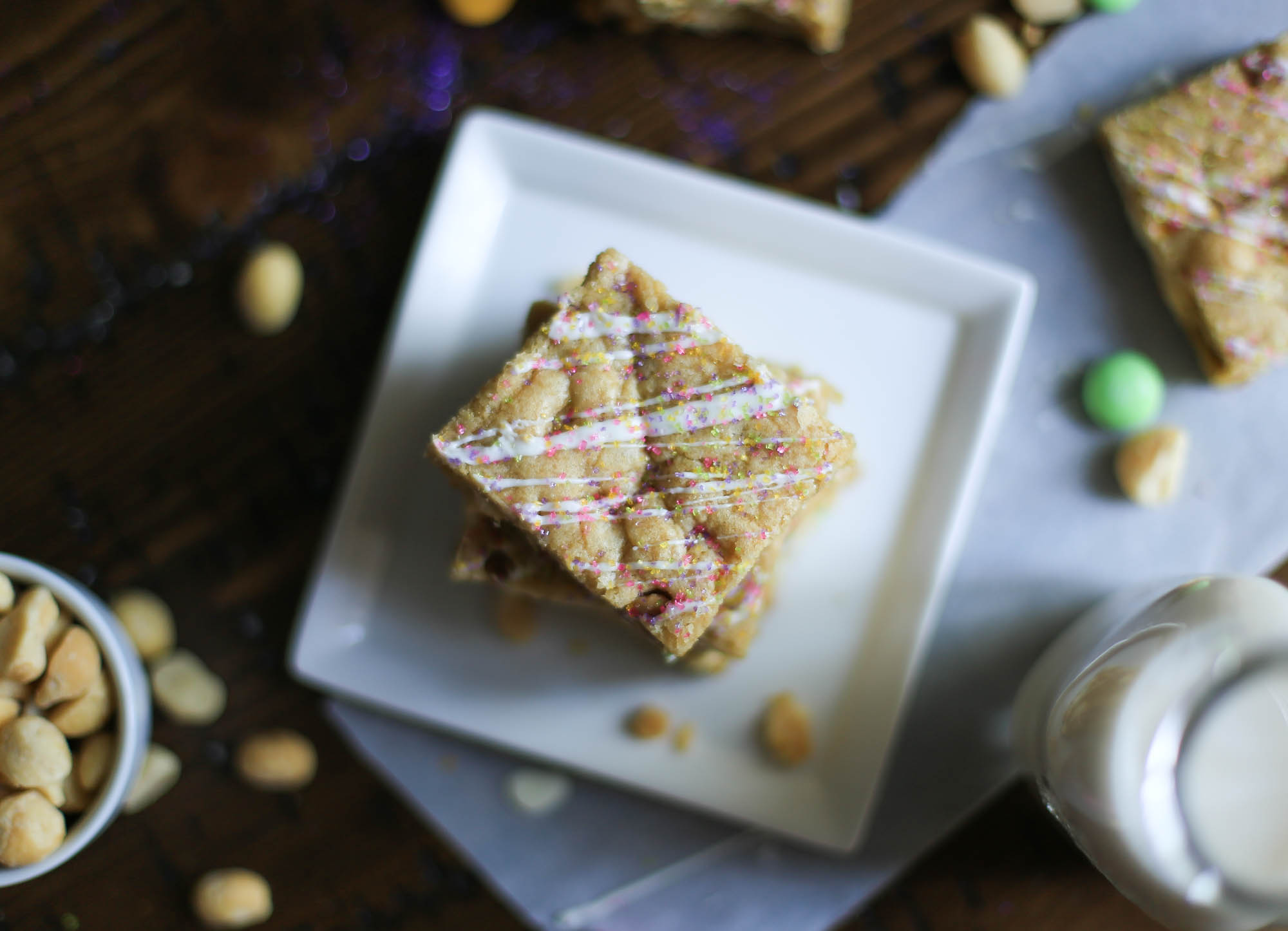 White Chocolate Macadamia Nut Bars by The District Table