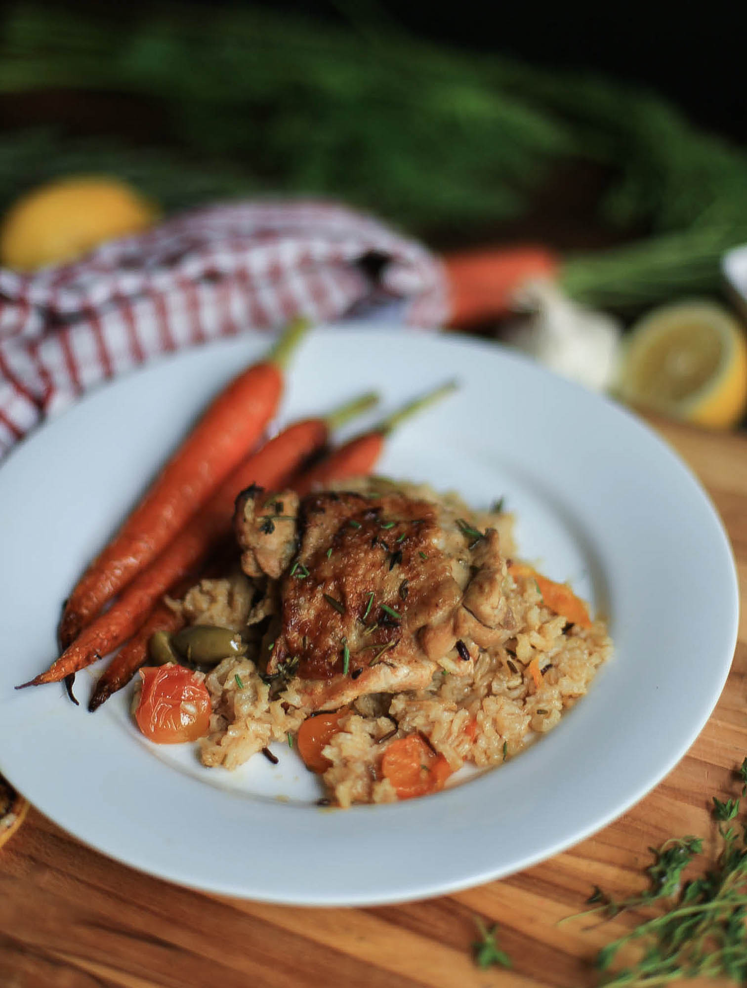 Healthy Mediterranean Chicken and Rice by The District Table