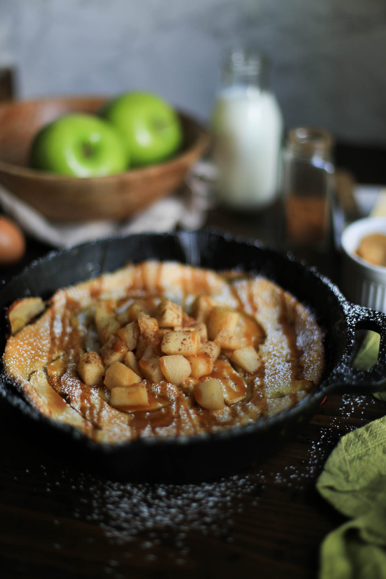 Easy Baked Apple Pancake Dutch Baby by The District Table