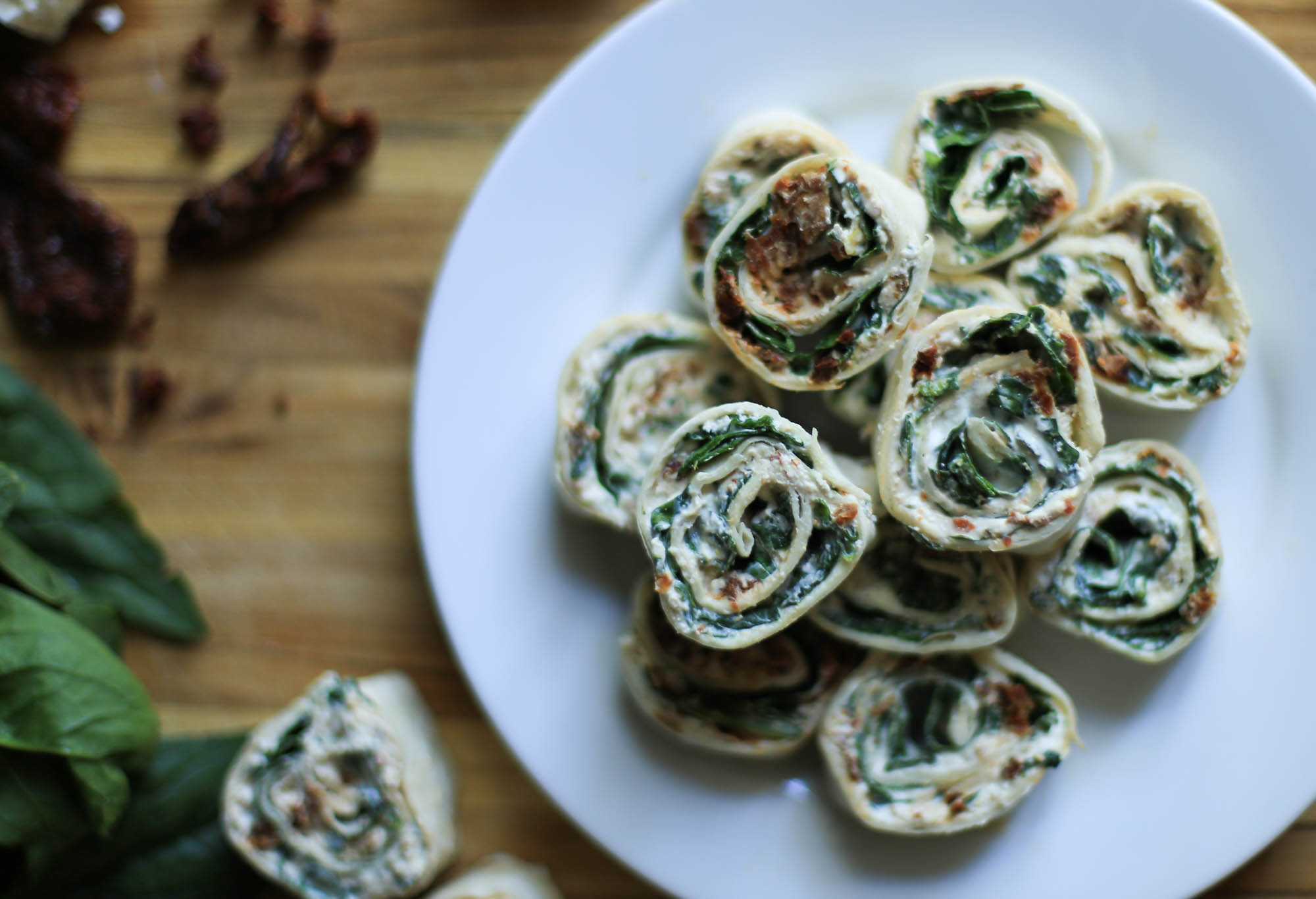 Sun-dried Tomato and Feta Tortilla Rollups by The District Table