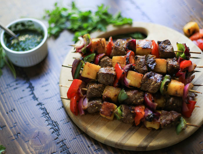 Grilled Hawaiian Steak Kabobs