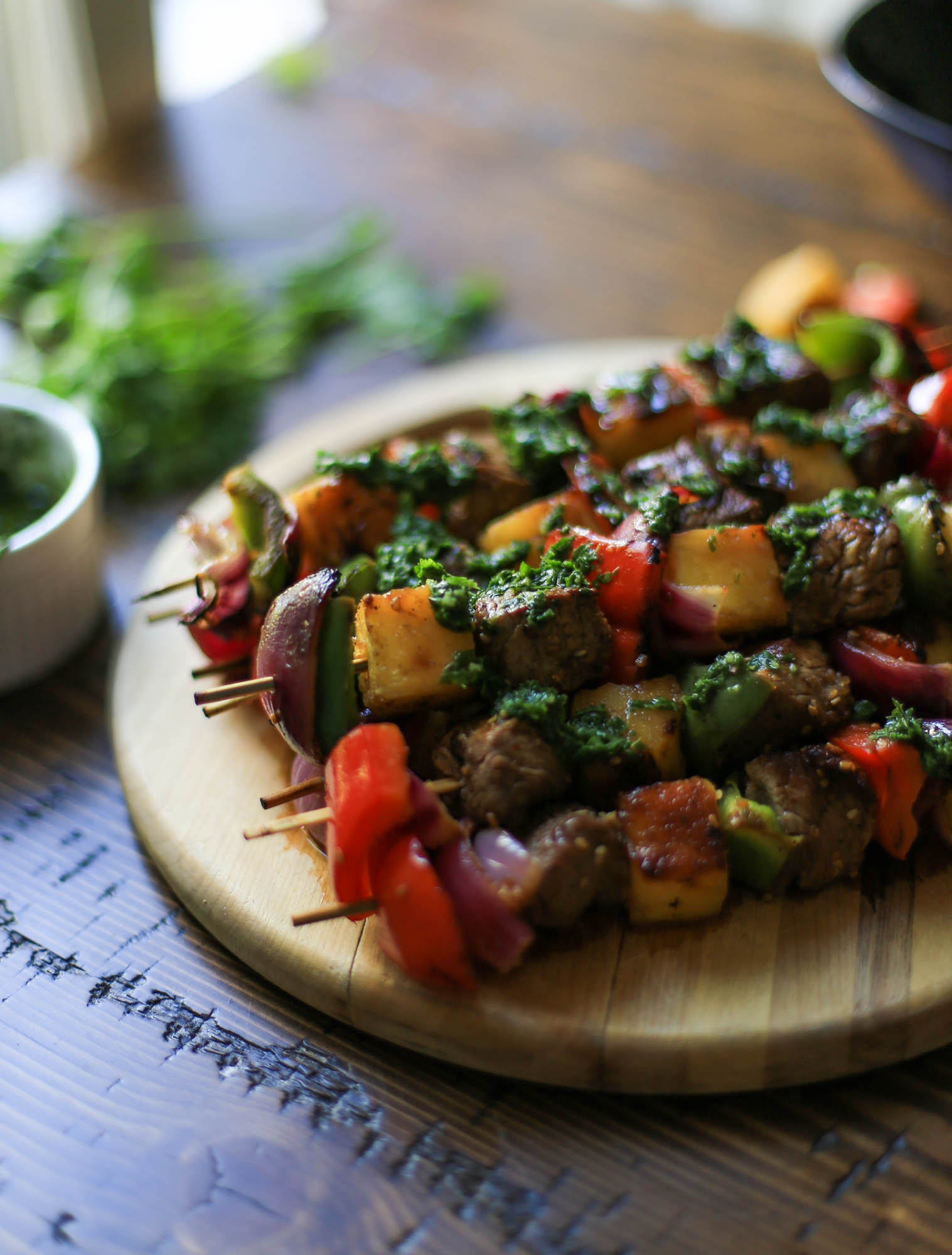 Grilled Hawaiian Steak Kabobs by The District Table