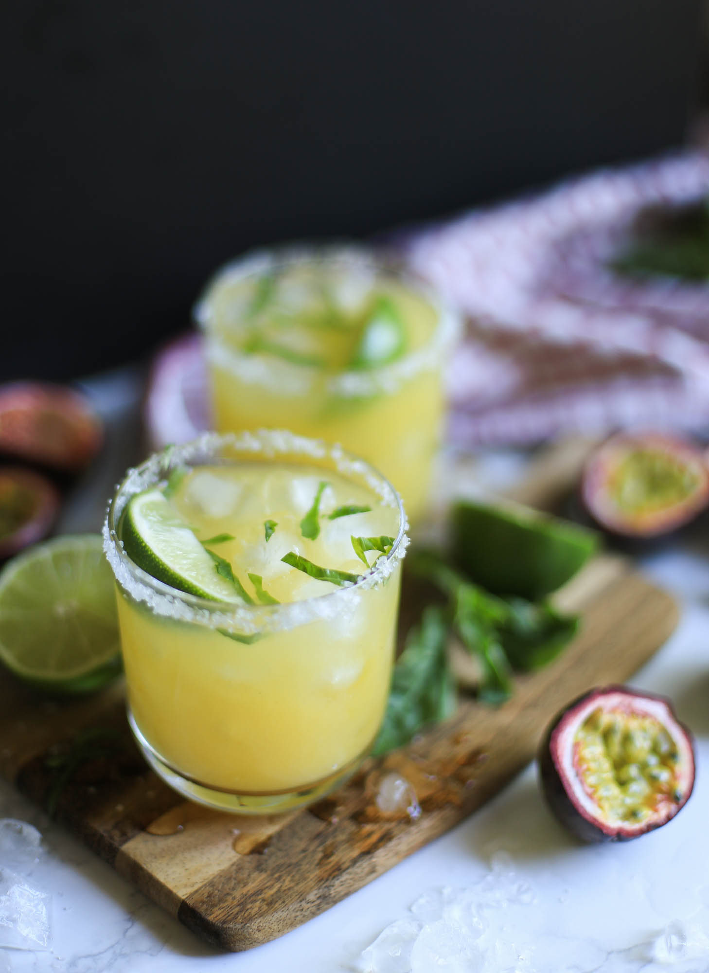Passion Fruit Margaritas by The District Table