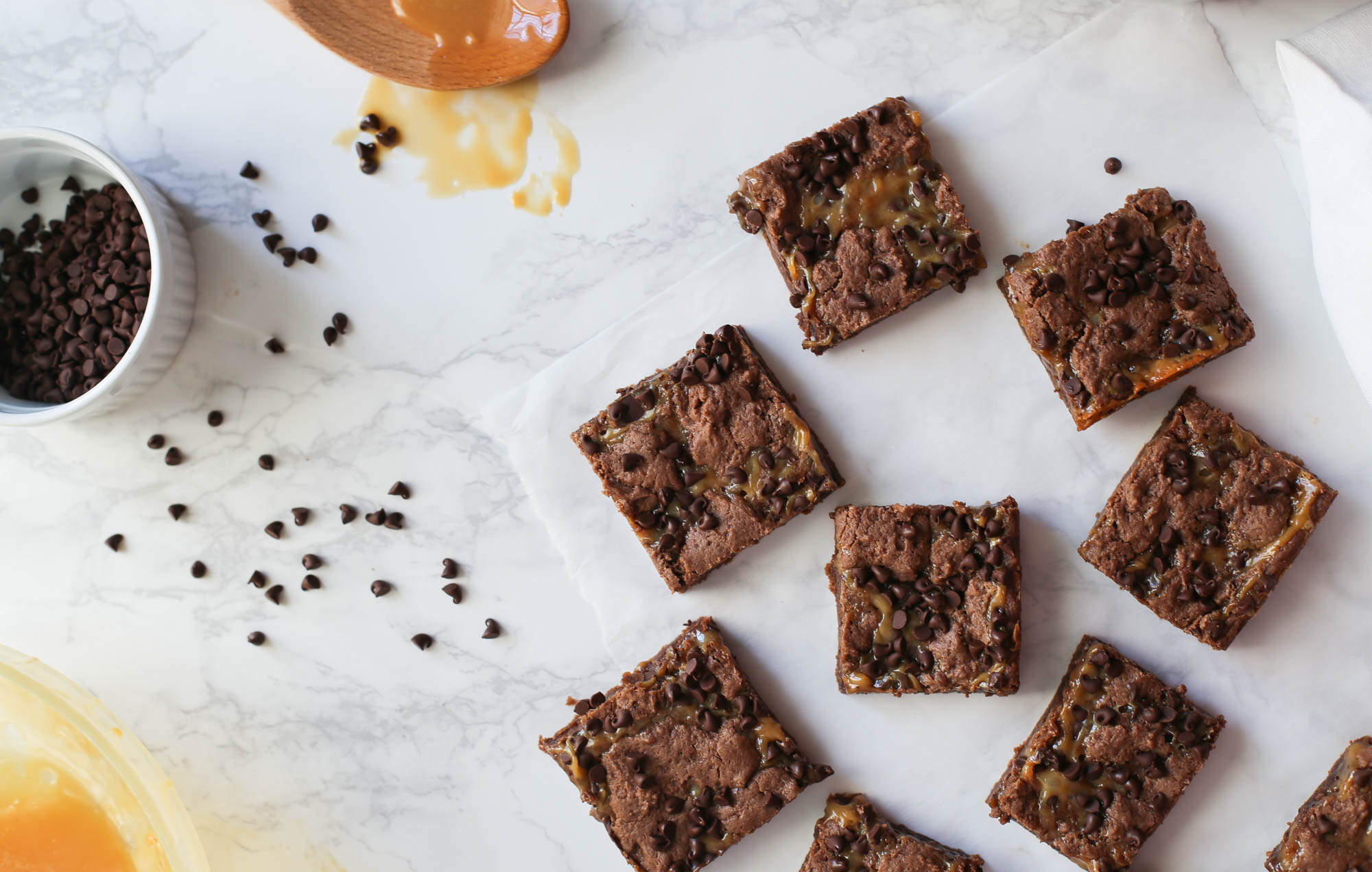 Chocolate Caramel Bars by The District Table