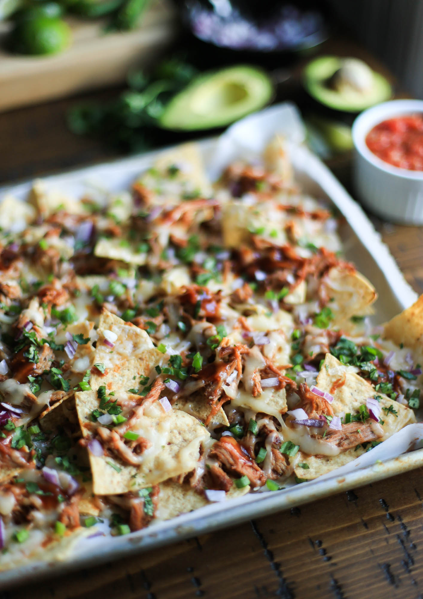 Loaded Pulled Pork Nachos by The District Table